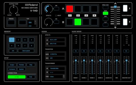 Roland lanza el nuevo mezclador compacto y de fácil transporte V-1HD 3